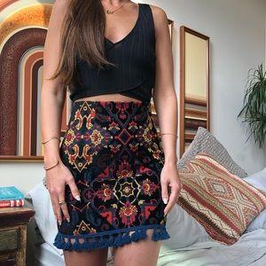 Zara tapestry Persian rug style mini skirt